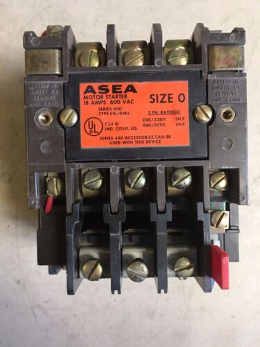 400A030P ASEA Motor Starter Size 0 208V Coil KTM-10 KTM10 Nice Contacts