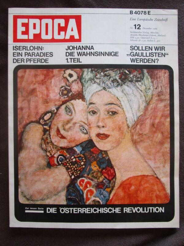 Epoca 1966 Gustav Klimt Tübingen Sigmund Freud Dressur Pferde Arnold Schönberg