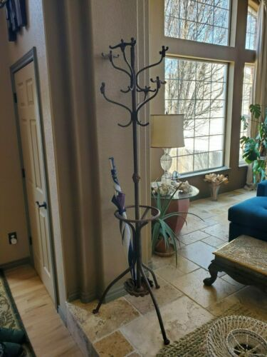 Large Vintage Cast Iron claw foot Coat Rack Hat Tree umbrella stand