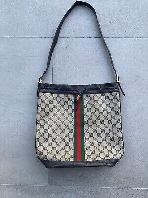 Vintage Gucci Ophida Bucket Bag Monogram Shoulder Drawstring WORN NO LINER orig