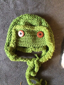 Crochet baby aviator hats