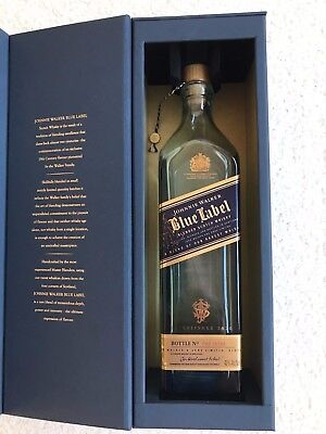 Johnnie Walker Blue Label Bottle with Gift Box 750ml Empty