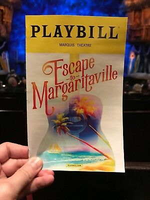 Escape To Margaritaville Broadway Playbill  Paul Alexander Nolan Lisa Howard