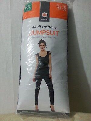 NWOT Target Adult Black Jumpsuit Costume Halloween Disco M/L](Target Costume Halloween)