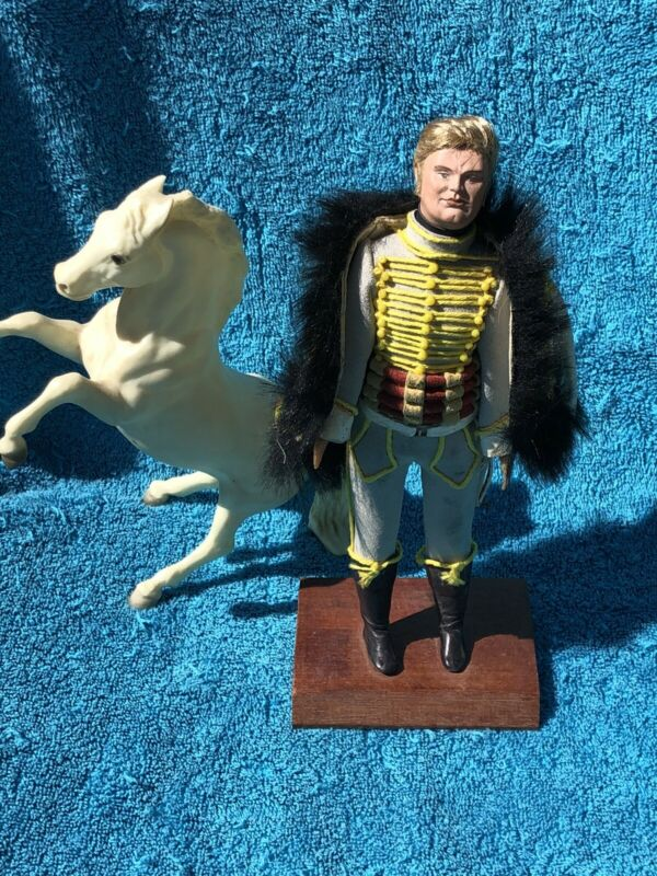 """Historical Figure Custom Made Hussar Soldier 9"""" On Stand"""