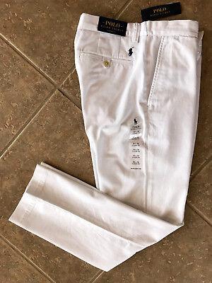 Polo Ralph Lauren Flat Front Chino Pants Men's 34 x 32 White Classic Fit NWT (Classic Fit Chino Pants)
