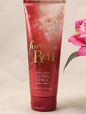 Bath and Body works FOREVER RED Ultra Shea Body CREAM lotion 8 Fl oz