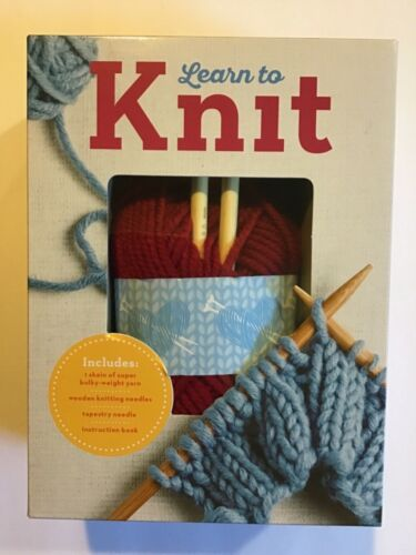 Learn To Knit Kit - Yarn, Knitting Needles, Tapestry Needle & Book Included