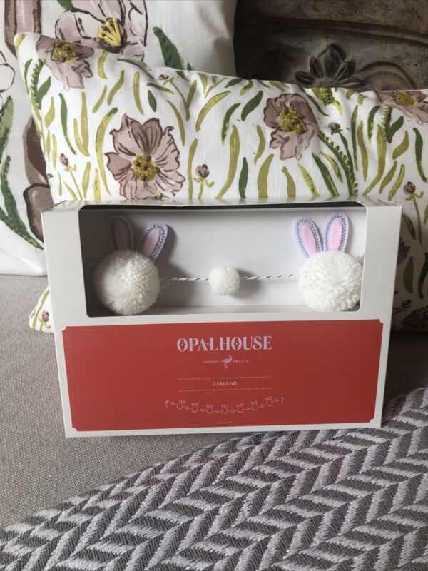 "NEW Opalhouse Easter 60"" White Bunny Garland Spring Home Decor Target 2021"