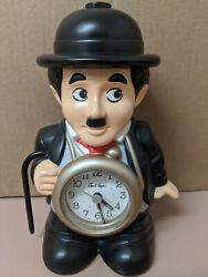 Vintage Charlie Chaplin Rhythm Speak Up Talking Alarm Clock Tested Works