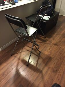 IKEA folding bar stools