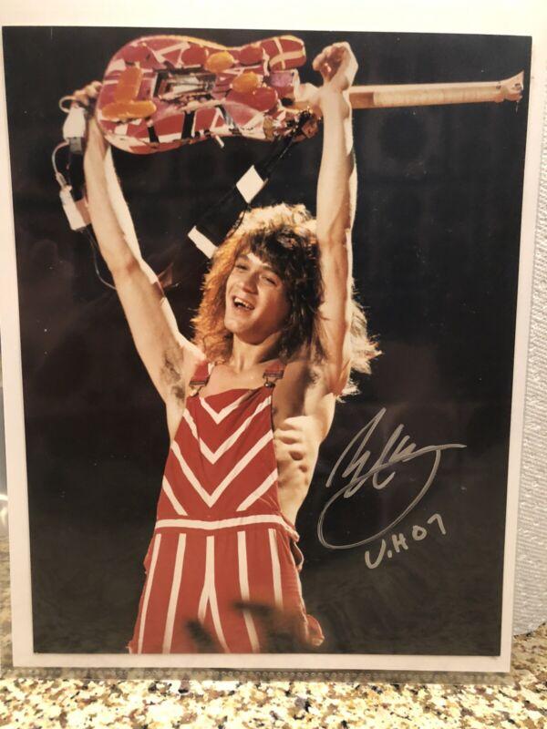 Van Halen Photo Originally Autographed By Eddie Van Halen