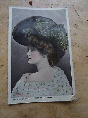 Vintage Edwardian Actress Photo Postcard Billie Burke