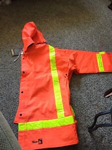 FR rain suit both jacket and pants are 2XL