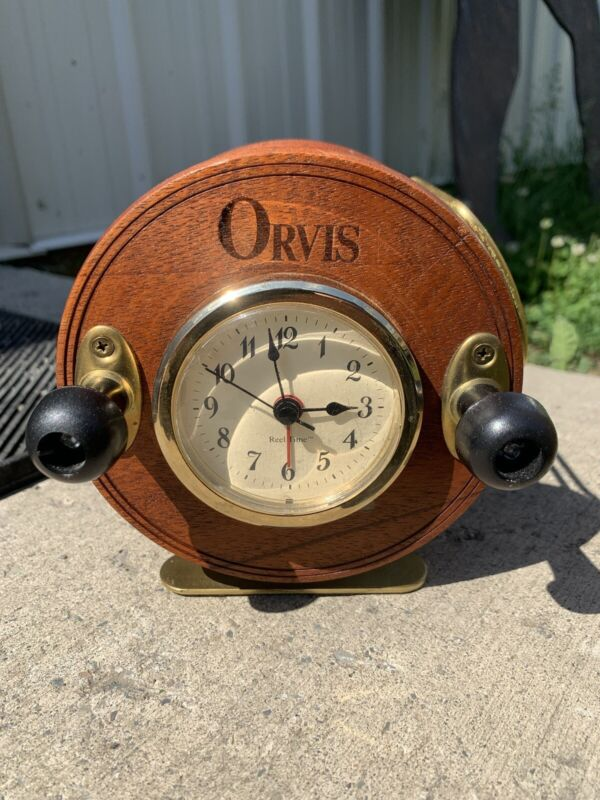 Orvis Fly Reel Clock Desk Top Style For Your Fisherman