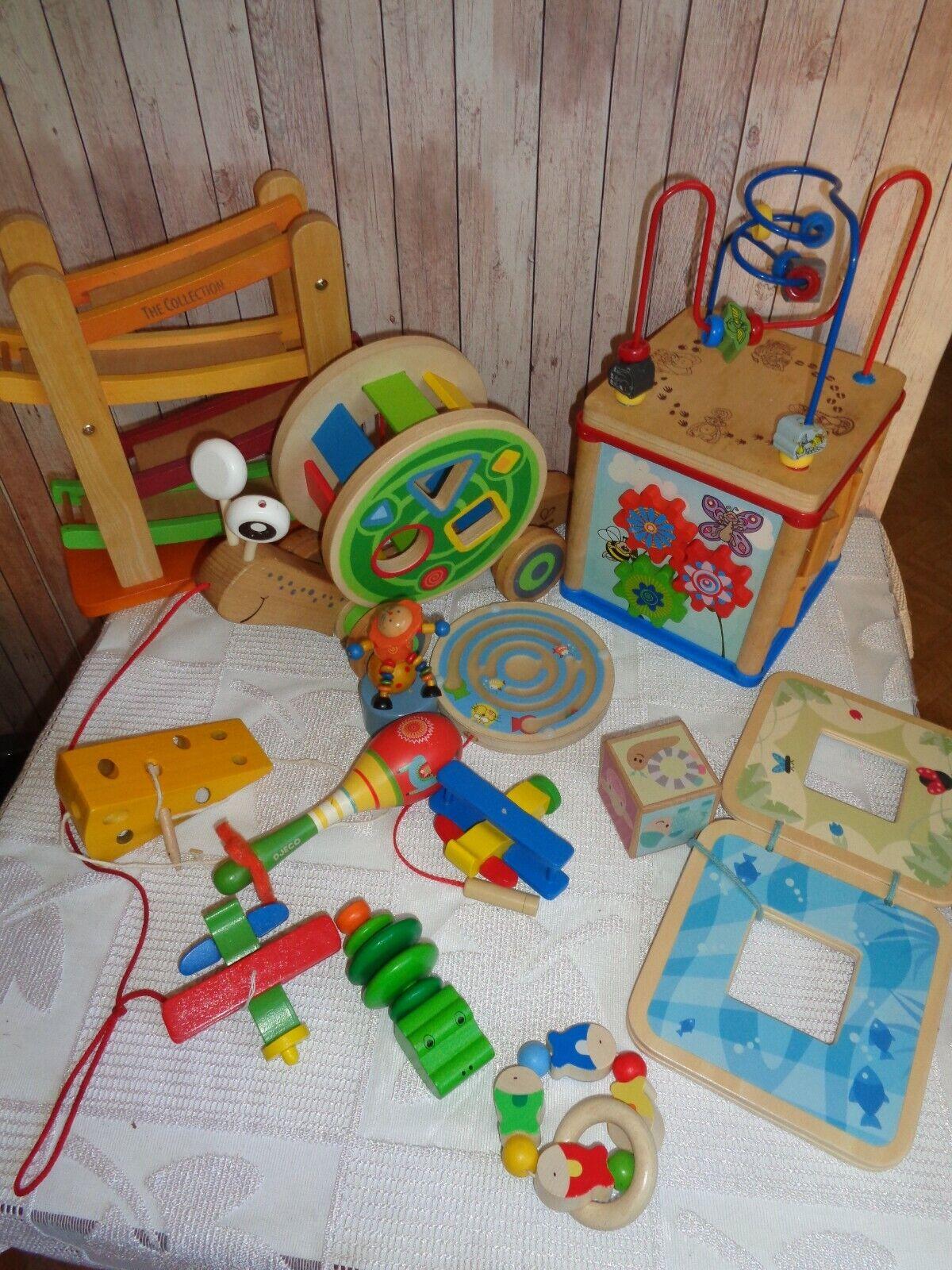 ❤️Holzspielzeug, hochwertiges Babyspielzeug, Ziehschnecke , Motorikschleife
