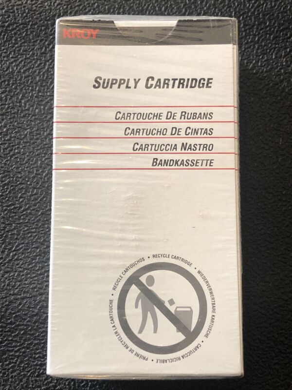 "KROY Supply Cartridge 3/8"" White Shrink Tube 2470031 SEALED NEW BOX"