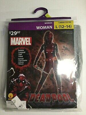 Marvel Comics Lady Deadpool Costume Woman Large L 12-14 Cosplay - Lady Marvel Kostüm