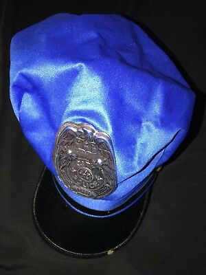 Cute Cop Halloween Costumes (ADULT size men women POLICE COP BLUE BLACK halloween HAT costume badge CUTE)