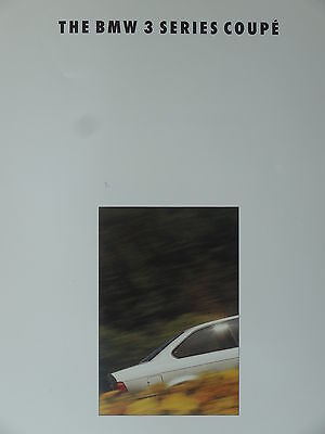 BMW 3 Series Coupe Mark 2 Sales brochure Pub 1992