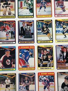 1990/91 O-Pee-Chee OPC Hockey Uncut Sheets Complete Set Stratford Kitchener Area image 2