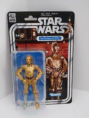 "Star Wars 6"" Black Series C-3PO SEE THREEPIO 40th Anniversary Series MOC Kenner"