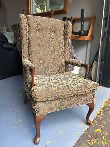 Custom wing back chair