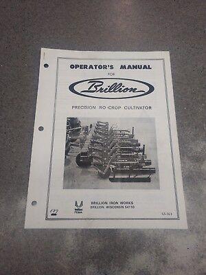 Brillion Precision Ro-crop Cultivators Operators Manual 3j363