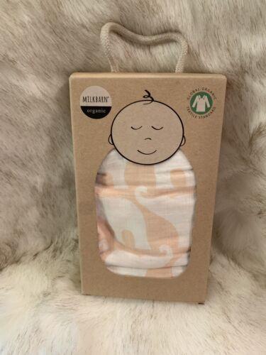 Milk Barn Baby Swaddle Baby Blanket Orange Fox