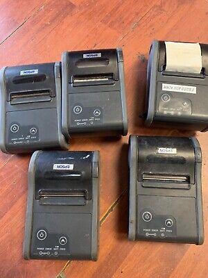 Lot Of 5 Epsontm-p60 M196b Bluetooth Portable Mobile Thermal Pos Receipt Printer