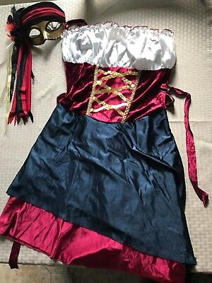 Girl Gipsy Dress Costume - Size Medium - with mask - Only used once!](Gypsy Male Costume)