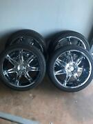 22 inch chrome rims with tyres! (4) Bentley Park Cairns City Preview