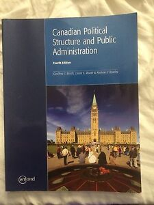 4th Edition Canadian Political Structure and Public Admin.