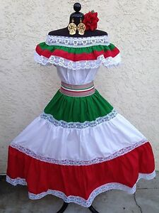 Mexican fiesta cinco de mayo wedding dress off shoulder w for Mexican wedding dresses for sale