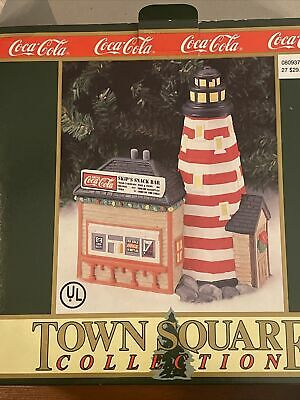 COCA -COLA 1995 TOWN SQUARE COLLECTION SKIP'S SNACK BAR Vintage Holiday
