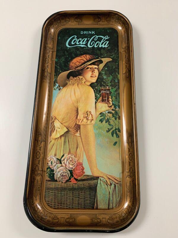 Coca Cola Metal Serving Tray Vintage