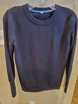 "Lululemon Black ""Bring It Backbend"" Open Back Pullover Sweater Thumbholes 4/6"