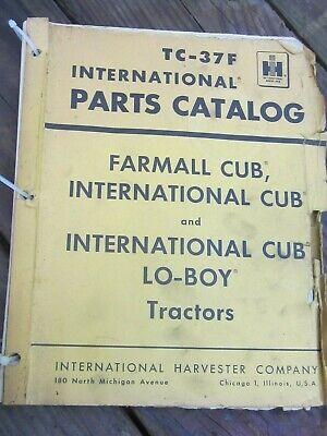 Vtg Ih Parts Catalog Farmall Cub Lo-boy Tractors Vintage 1964 Loose 226 Pages