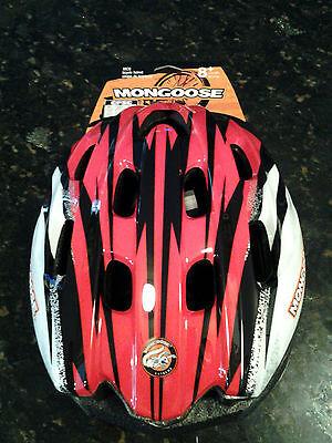 BRAND NEW NIB Mongoose Youth XR 20 Bike Helmet 8+ Kids bicycle Black, red white