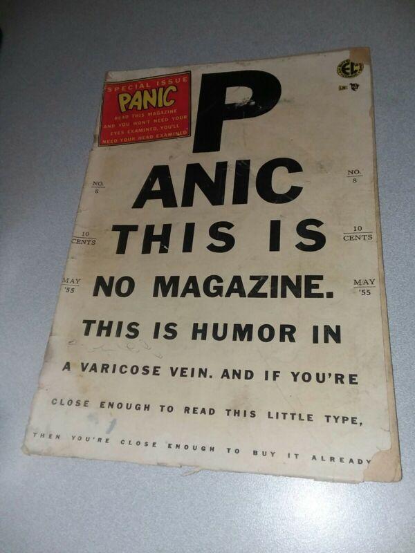PANIC #8 ec comics 1955 precode humor mad wood elder davis comedy art golden age
