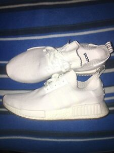 NMD SIZE 13 ALL WHITE