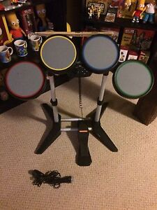 PS3/ps2 wired rock band drums and mic