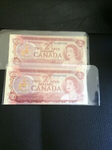 1974 Canadian $2 Bills for Sale