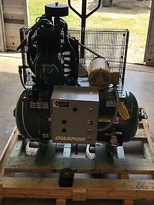 Champion Air Compressor Hr2-3 Two Stage 30 Gallon Tank 3 Phase 220440 V