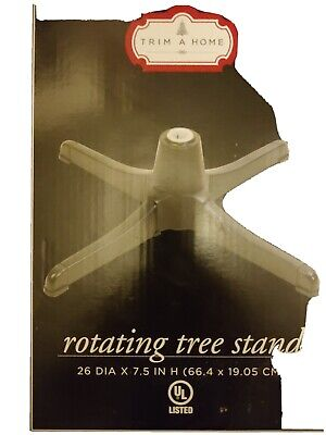 Trim A Home Rotating & Powered Christmas Tree Stand with Adaptors