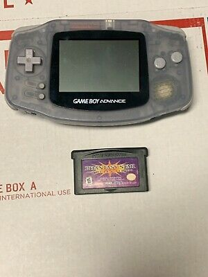 Nintendo GameBoy Advance Clear AGB-001 and phantasy star collection game
