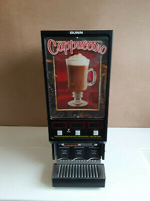 Bunn Fmd-3 Hot Powdered Drink Machine 3 Hoppers Cafe Display 120v Cappuccino