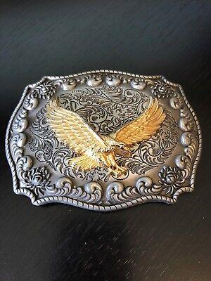 Jean's Friend Eagle Belt Buckle Two Tone Very Decorative Detailed