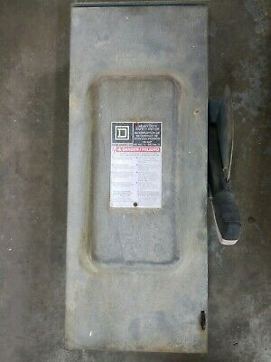 Square D Hu363rb Heavy Duty Fusible Safety Switch 100 Amp 600v Series F05