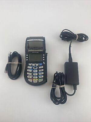 Hypercom Optimum T4210 Credit Card Processing Terminal Machine Black W Ac Cord